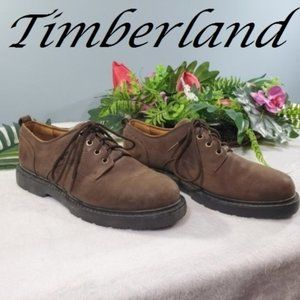 Timberlands brown Leather boots Size 9.5